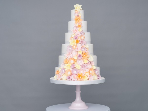 Summer Passion Wedding Cake by GC COuture