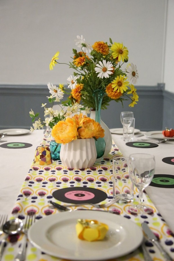 Table Flowers and Styling by The Fab Gift Boutique