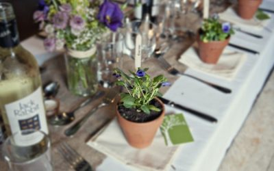 Country Garden Wedding Table Styling Ideas