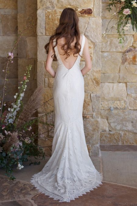 Back of Toscana Wedding Dress from the Claire Pettibone Romantique The Vineyard Collection 2018