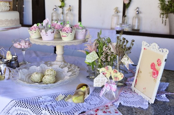 Vintage Themed Wedding Dessert Table