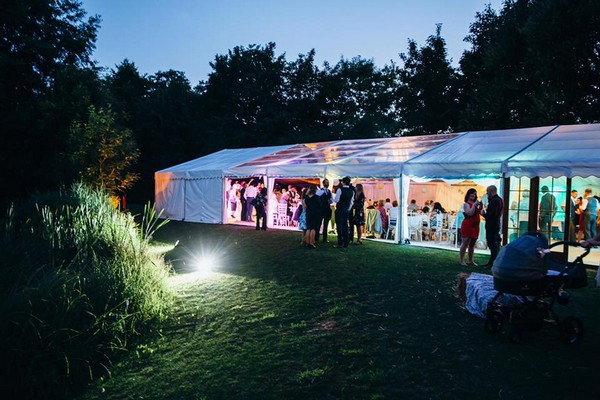 Wedding Marquee Evening Reception