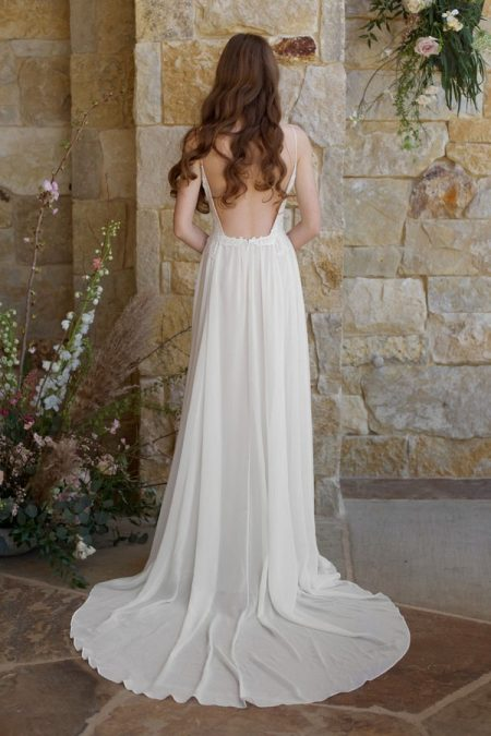 Back of Zinfandel Wedding Dress from the Claire Pettibone Romantique The Vineyard Collection 2018