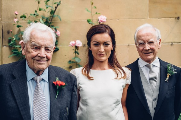 Bride with father and grandfather