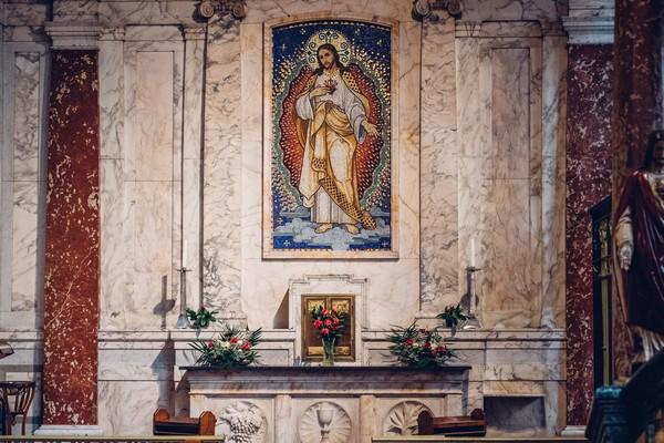 Mural in St Aloysius Church, Glasgow