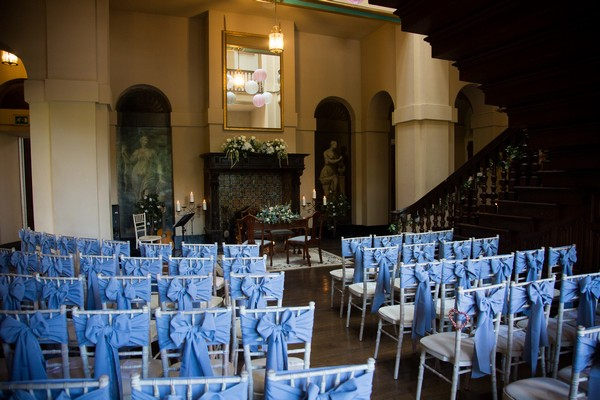 Wedding ceremony seating at Kings Weston House