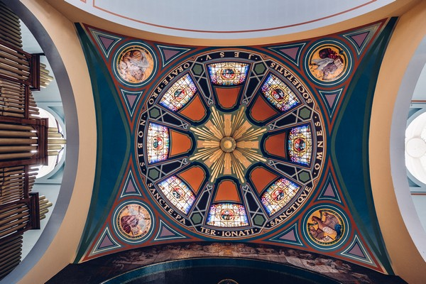 Ceiling of St Aloysius Church, Glasgow