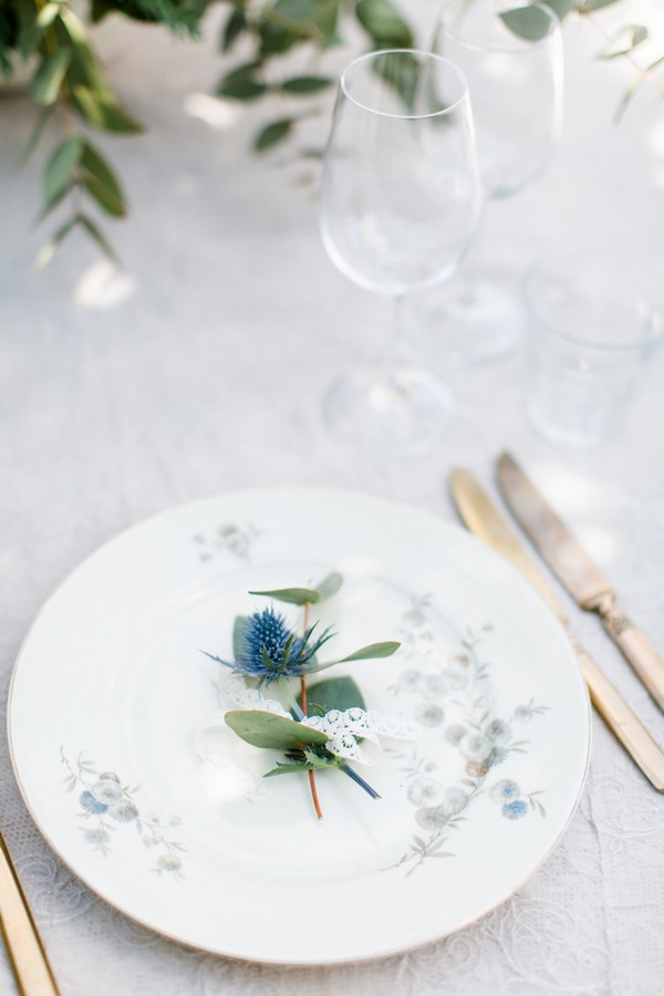 Plate at wedding place setting