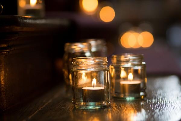Tealights in jars
