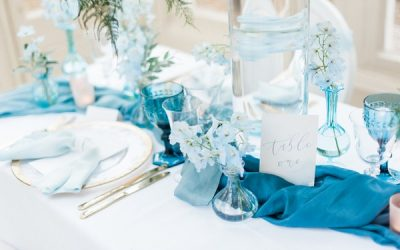 Something Blue Wedding Table Styling Inspiration