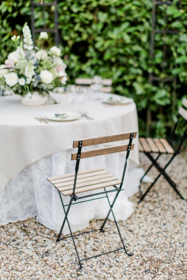 Chairs at wedding table