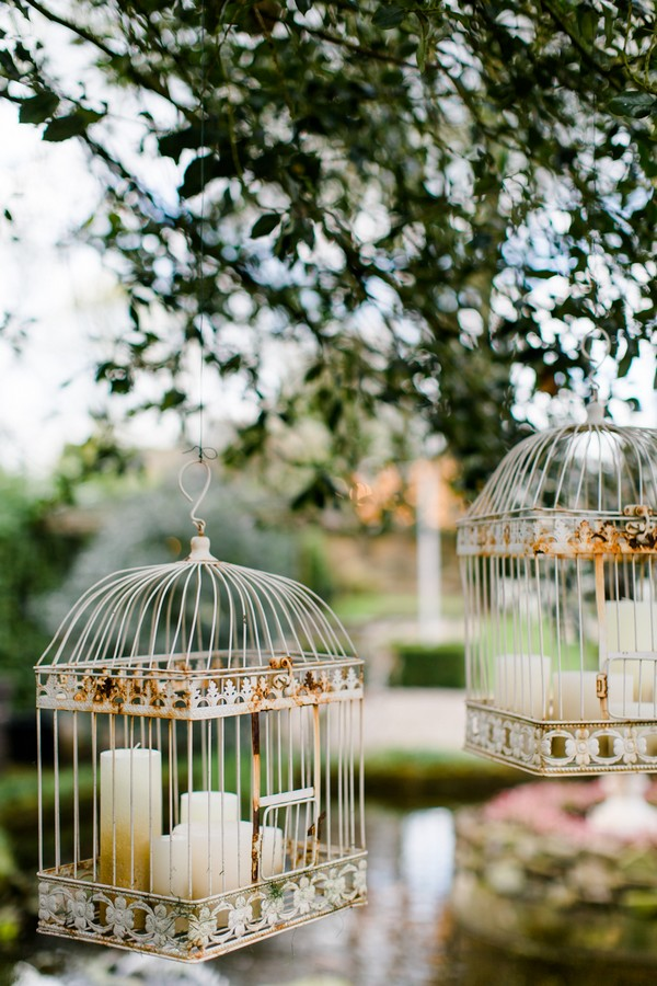 Candles in birdcages