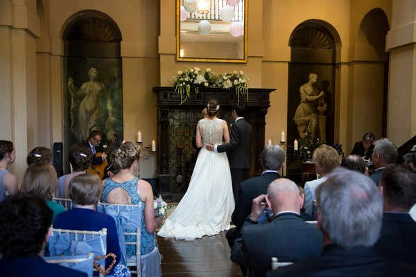 Wedding ceremony at Kings Weston House