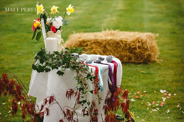 Handfasting ceremony table