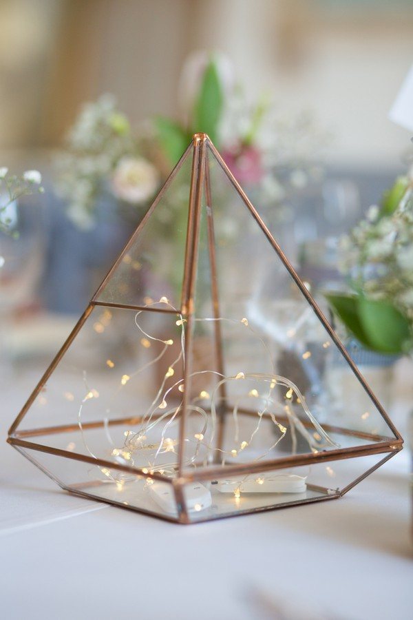 Terrarium on wedding table