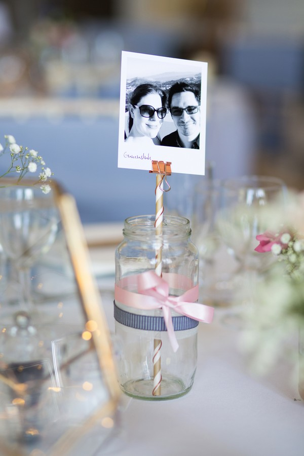 Jam jar with photo of couple