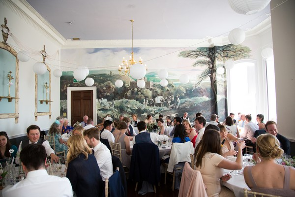 Wedding breakfast at Kings Weston House