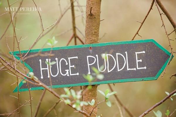 Huge Puddle sign