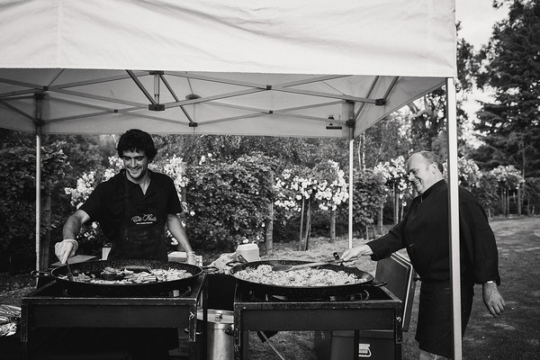 Paella stall at wedding