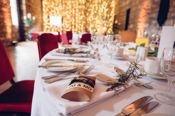 Table styling at Culcreach Castle Hotel wedding