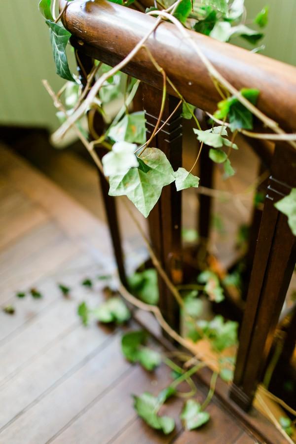 Ivy on stair rail