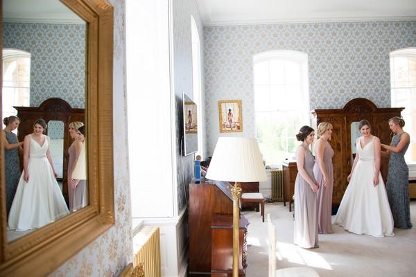 Bridal preparations at Kings Weston House
