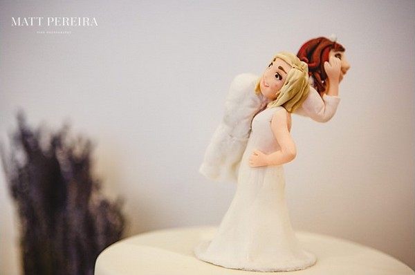 Bride personalised cake topper
