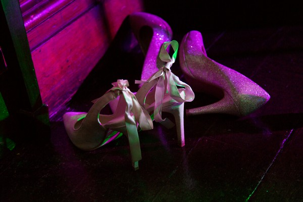 Bridal shoes on floor