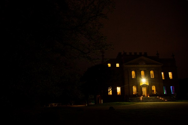 Kings Weston House at night