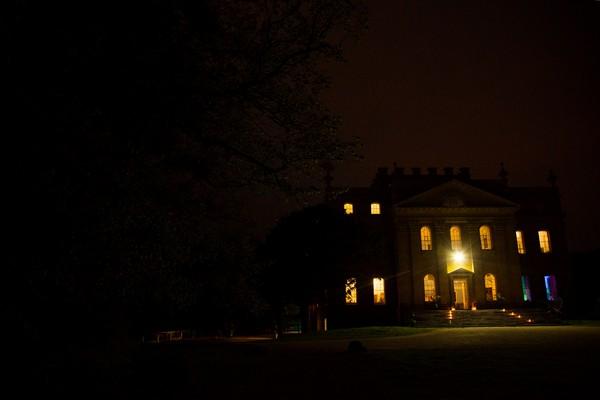 Kings Weston House at night