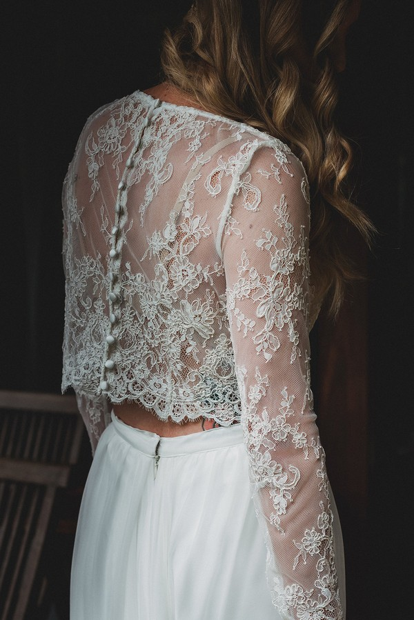 Lace detail on Tillie crop top by Karen Willis Holmes