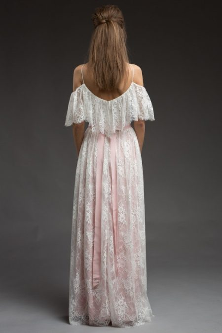 Back of Adele Wedding Dress from the Katya Katya Shehurina Morning Mist 2017-2018 Collection