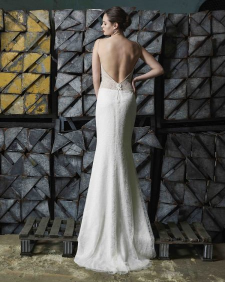 Back of Adeline wedding dress from the Elbeth Gillis Mystique 2018 collection
