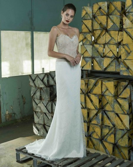 Adeline wedding dress from the Elbeth Gillis Mystique 2018 collection