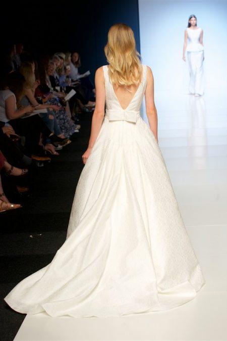 Back of Agatha Wedding Dress from the Alan Hannah Veritas 2018 Collection