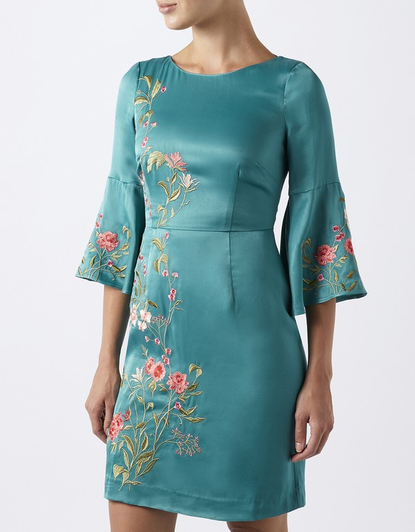 Aki Embroidered Short Dress by Monsoon