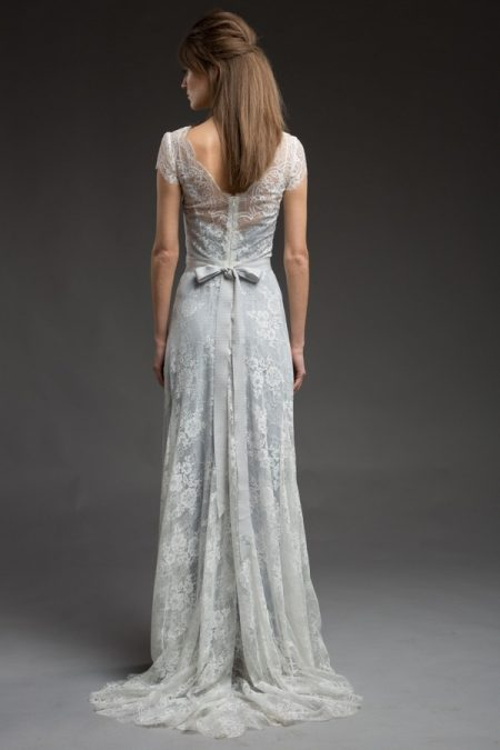 Back of Alaska Wedding Dress from the Katya Katya Shehurina Morning Mist 2017-2018 Collection