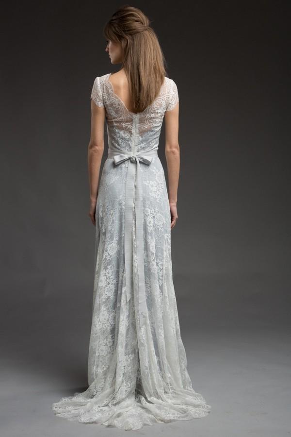 Back of Alaska Wedding Dress from the Katya Katya Shehurina Morning Mist 2017-2018 Collection