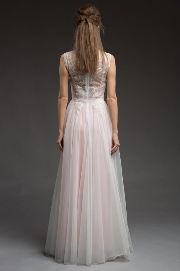 Back of Aleksa Wedding Dress from the Katya Katya Shehurina Morning Mist 2017-2018 Collection