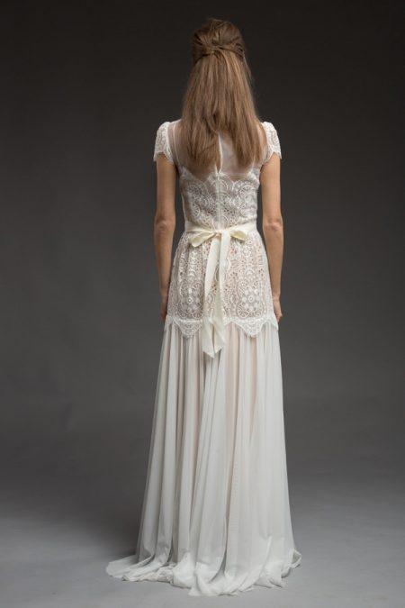 Back of Avery Wedding Dress from the Katya Katya Shehurina Morning Mist 2017-2018 Collection