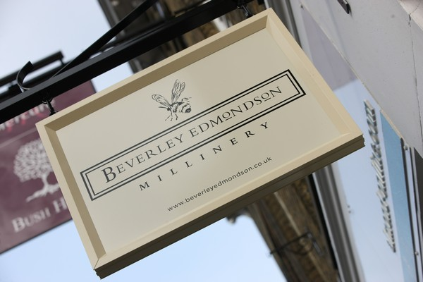 Beverley Edmondson Millinery Store Sign