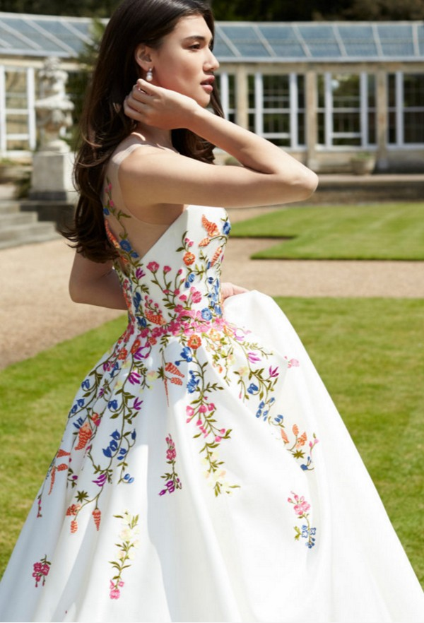 Blossom Wedding Dress with Floral Detail by Sassi Holford