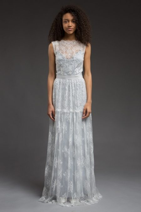 Blue Wedding Dress from the Katya Katya Shehurina Morning Mist 2017-2018 Collection