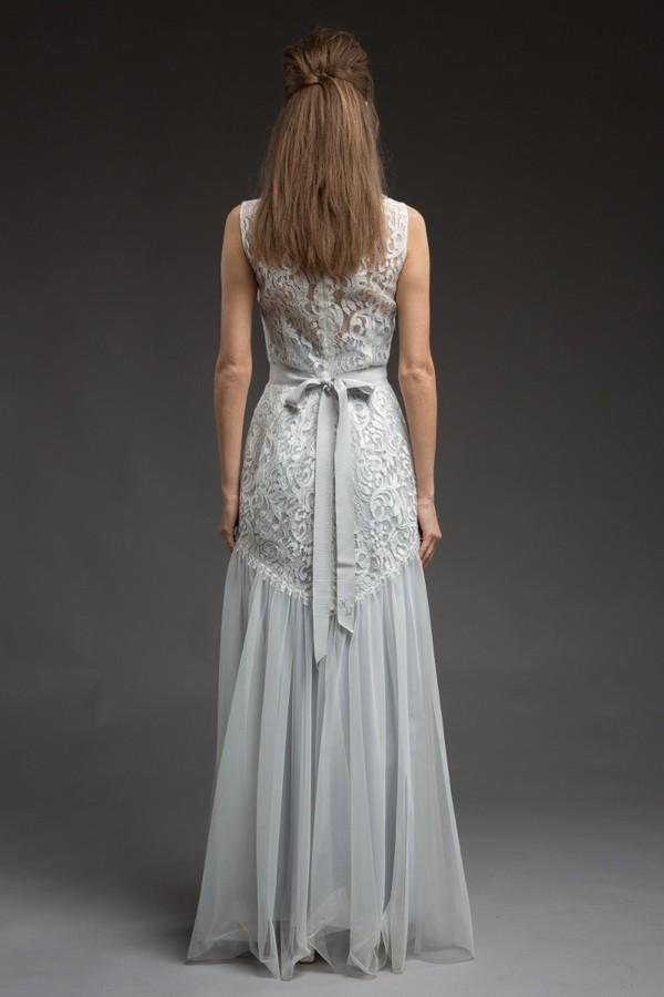 Back of Bluebelle Wedding Dress from the Katya Katya Shehurina Morning Mist 2017-2018 Collection