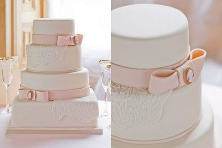 Cameo Wedding Cake by GC Couture