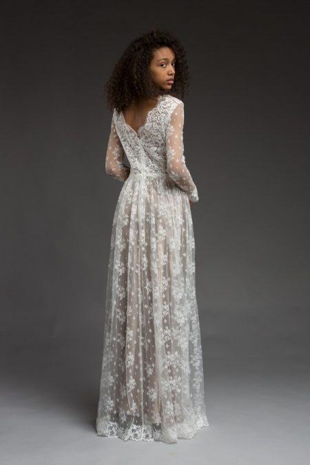 Back of Cara Wedding Dress from the Katya Katya Shehurina Morning Mist 2017-2018 Collection
