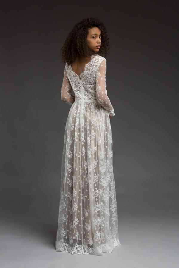 Back of Cara Wedding Dress from the Katya Katya Shehurina Morning Mist 2017-2018 Collection