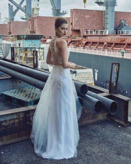 Back of Celia wedding dress from the Elbeth Gillis Mystique 2018 collection