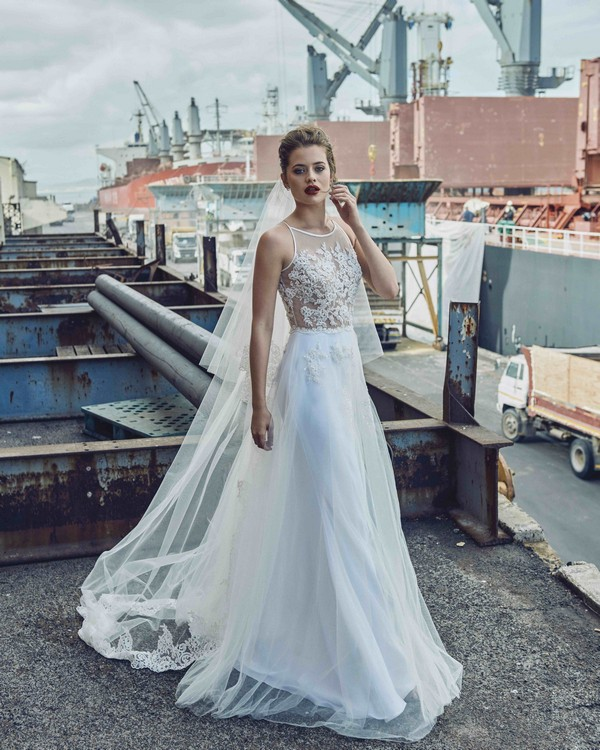 Celia wedding dress from the Elbeth Gillis Mystique 2018 collection