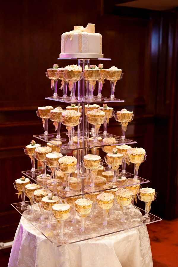 Champagne Cupcake Tower by GC Couture